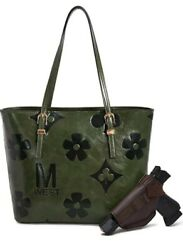 Montana West Large Tote for Women Concealed Handgun Carry Monogram FREE HOLSTER  $45.00