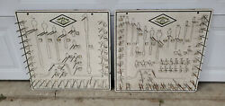 Vintage Set Of 2 Thorsen Tool Boards Displays For Sockets And Ratchets
