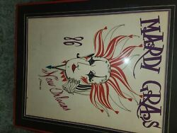 1986 Rare Vintage Mardi Gras Poster- Framed And In Pristine Condition