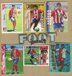 Aguero 7 Rookie At Madrid Fantastic Lot - 14 Cards + 4 Sealed Packets -