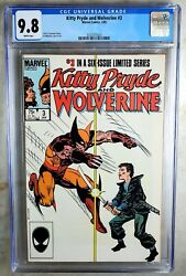 Kitty Pryde And Wolverine 3 1985 Cgc 9.8 Nm/mt White Pages Comic R0039