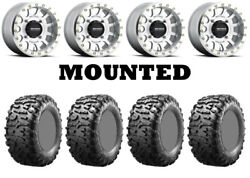 Kit 4 Maxxis Bighorn 3.0 Tires 29x9-14 On Method 401 Beadlock Machined Fxt