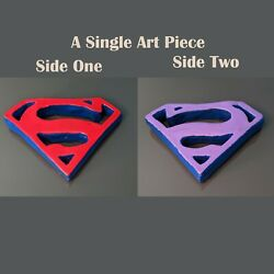 Superman And Bizarro Inspired Two-side Ceramic Piece