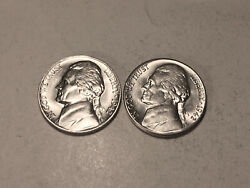 1942 P-s Ch/gem Bu Uncirculated Silver Jefferson Nickels Two Coin Set Group76