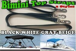 Bimini Top Straps-3 Sizes-2 Styles And 4 Colors-heavy Swivel Buckles Boats-covers