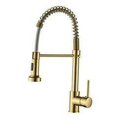 Kitchen Faucet With Sprayermodern Single Handle Gold Spring Kitchen Faucet