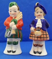 Scottish Boy And Girl Vintage Salt And Pepper Shakers Marked Germany