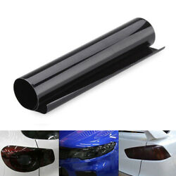 Dark Smoke Protect Vinyl Film Tint 12 X 24 Headlight Taillight Fog Wrap Roll