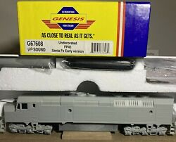 Ho Athearn Genesis G67608 Undecorated Fp45 Santa Fe Early Version W/ Sound