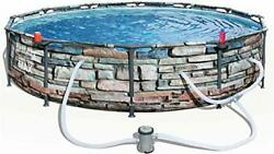Bestway 12and039 X 30 Steel Pro Max Round Above Ground Swimming Pool Kit With Filter