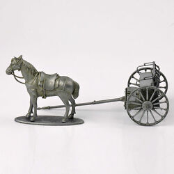 1/24 Scale Atlas Wwi Artillery Train Horse-drawn Vehicle Model Collectible