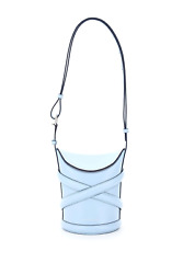 New Alexander Mcqueen The Small Curve Bucket Bag 656467 1yb42 Powder Blu Authent