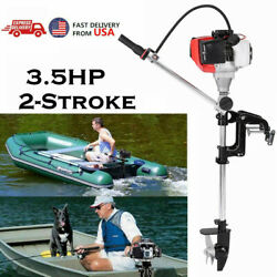 2-stroke 3.5 Hp Heavy Duty Outboard Motor Boat Engine W/air Cooling System Us