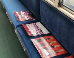 Train Coca-cola In-car Advertising Poster Set Of 3 Super Rare Hard-to-find Items