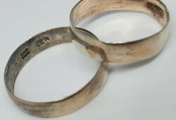 💥 Vintage Wedding Silver Ring Of The Russian Empire Before 1917 Jewelry Mark 84