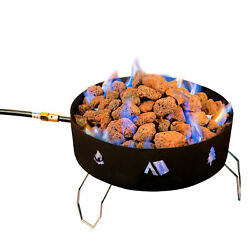 Stansport 65000 Btu Propane Fire Pit With Lava Rocks Round Outdoor Camping New