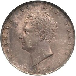 Great Britain George Iv 1826 Half-crown Silver Coin Certified Anacs Au-50