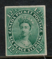 Canada 18b Extra Fine Mint Imperf Single On Wove Paper