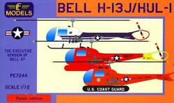 Lf Models 1/72 Bell H-13j Hul-1 Helicopter 3 American Versions