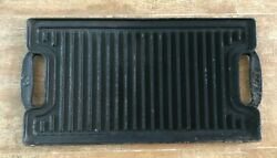 Vintage Reversible Grill Griddle Cast Iron Pan 19 Marked 3 Or E Lodge Vintage