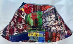 Polo Quilted Patchwork Multicolor Bucket Hat Pony New With Tags