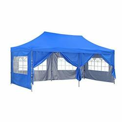 10x20 Ft Wedding Party Canopy Tent Pop Up Instant Gazebo With Removable Blue