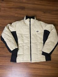 Harley Davidson Motorcycle Women's Jacket Medium Full Zip Quilted Feather Puff $59.95