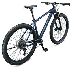 Mountain Bike With Mechanical Seat Post Medium 17 Inch Mens Style Frame Blue