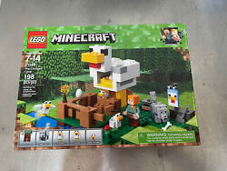 Lego Minecraft The Chicken Coop 21140 Building Kit 198 Pieces Brand New