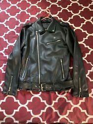 mens faux leather motorcycle jacket $25.00