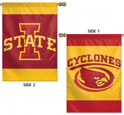 Iowa State Cyclones Official Ncaa Sports Team Rare 2-sided 28x40 Banner Flag