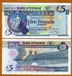 Bank Of Ireland, Northern 5 Pounds, 2008, P-83, Unc Old Bushmill's Distillery