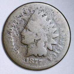 1877 Indian Head Small Cent G Free Shipping E127 Xnam