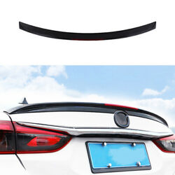 For Mazda 6 2020-2021 Black Rear Boot Spoiler Wing Flap With Reflective Strip 1x