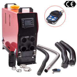 Diesel Air Heater 12v 2kw-5kw All In One W/ 4 Holes +lcd Display For Motorhome
