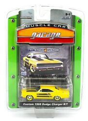Greenlight Muscle Car Garage Custom Yellow 1968 Dodge Charger R/t Nip