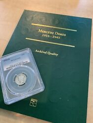 Complete 77 Silver Coin Mercury Dime Set With The 1916d Pcgs G04