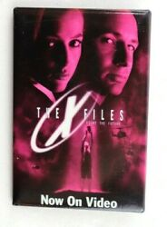 Vintage 1998 The X-files Movie Vhs Release Promo 3x2 Button Pin Pinback