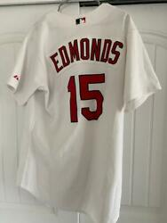 Jim Edmonds St. Louis Cardinals 2004 Game Used And Signed Jersey Jsa Loa