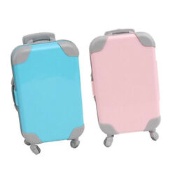 2 Pieces Fashion Mini Doll Suitcase Luggage Case Trunk For  Baby Doll