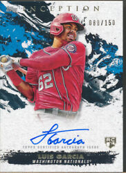 2021 Inception Rookies And Emerging Stars Autograph Lg Luis Garcia Rc Auto /150
