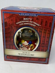 2001 Macy's Thanksgiving Day Parade 75th Anniversary Snow Globe Twin Towers