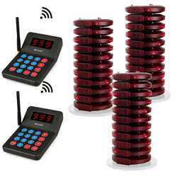T119 Restaurant Wireless Paging Queuing System 30coaster Pager Cafe Food Truck