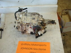 Johnson Outboard 15hp Boat Motor Seahorse Powerhead Engine 100psi Cylinder Crank