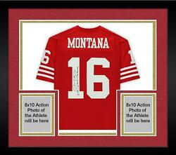Frmd Joe Montana 49ers Signed Red Replica Jersey And I Left My Heart In Sf Insc