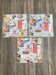 3 Vintage Mickey Mouse Mickey's Stuff For Kids Wrapping Paper Hallmark New