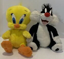 Looney Tunes Tweety Bird And Sylvester Talking Toy Plush 1998 Tested And Work