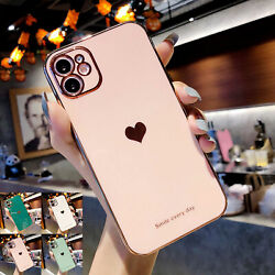 Love Heart Cute Rubber SHOCKPROOF Case For iPhone 11 12 Pro Max XS XR X 7 8 Plus $7.78