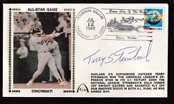 Terry Steinbach Autographed 1988 Usps Silk Cachet Fdc Psa/dna All Star Game Mvp