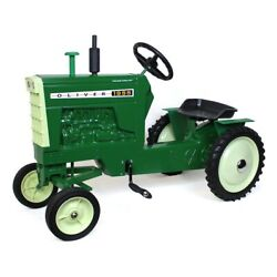 Oliver 1955 Wide Front Pedal Tractor With Muffler And Fenders